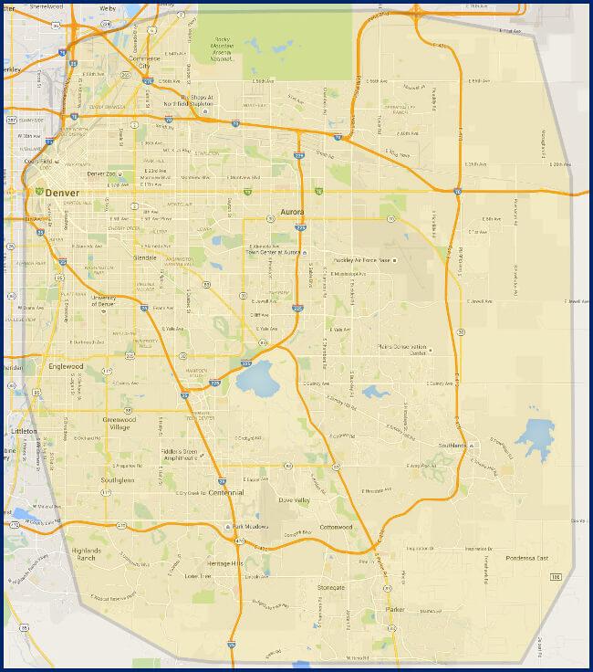 Our Denver Plumbing Service Area-Royalty Plumbing Aurora CO 80013